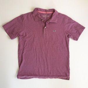 Vineyard Vines Navy & Pink Striped Polo Shirt S